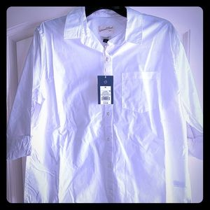 Fresh white button down shirt